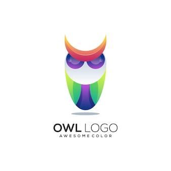 Résumé coloré d'illustration de logo de hibou