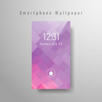 Résumé conception de fond d'écran de smartphone moderne
