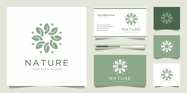 Résumé de conception de logo de fleur élégante.