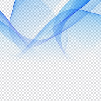 Résumé conception d'onde bleu sur fond transparent