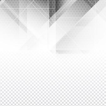 Résumé conception de polygone de couleur gris sur fond transparent