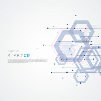 Résumé connecter fond de structure hexagonale