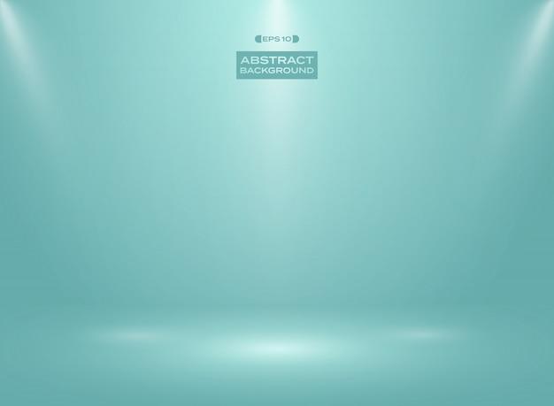 Résumé de la couleur bleue à la menthe dans le fond de la salle de studio