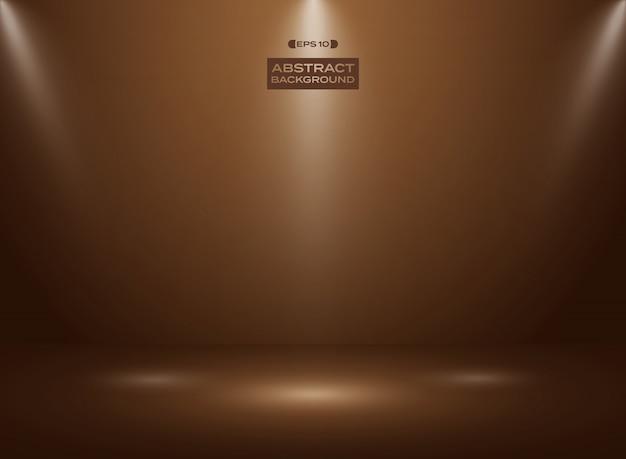 Résumé de couleur chocolat noir en fond de chambre studio