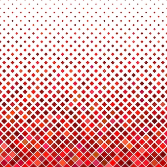 Résumé de fond carré en diagonale - graphique vectoriel géométrique à partir de carrés en tons rouges