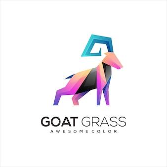 Résumé de dégradé coloré de logo de chèvre