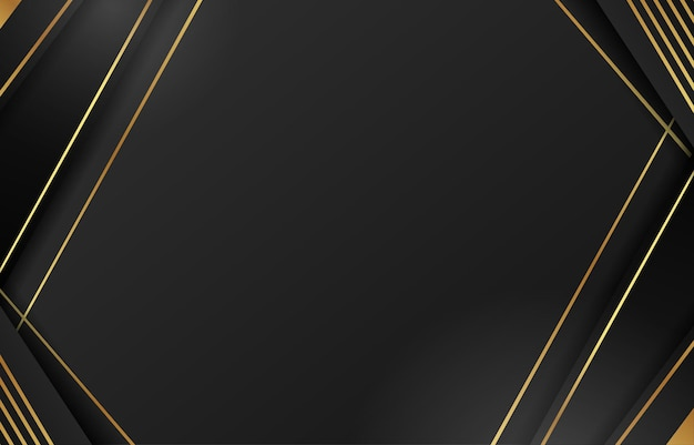 Résumé de la diagonale de la ligne d'or noir