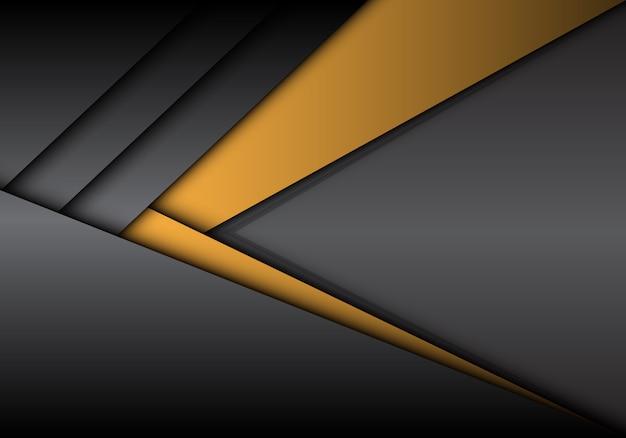 Résumé direction flèche métallique gris jaune avec fond blanc.