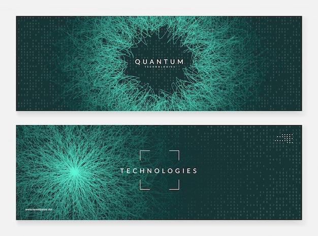 Résumé de données volumineuses. bannière de technologie numérique