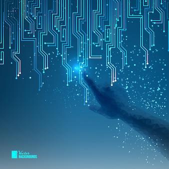 Résumé du circuit électrique bleu.
