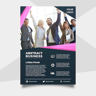 Résumé du dépliant d'affaires avec photo