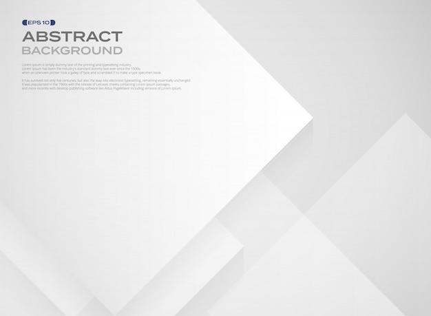 Résumé du modèle de papier blanc carré large