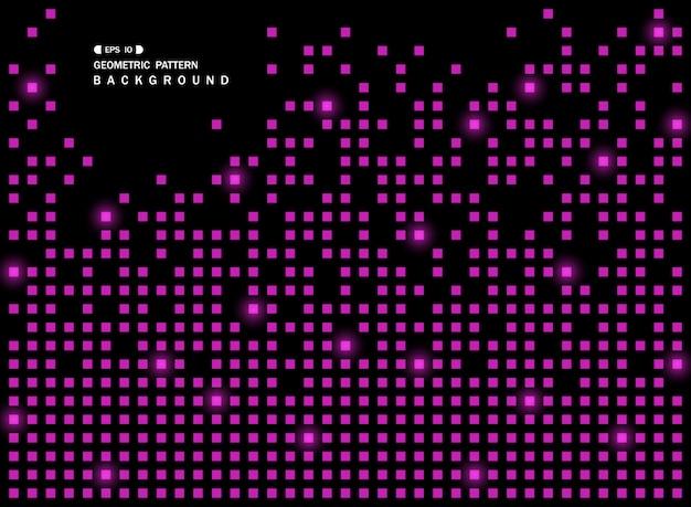 Résumé du motif géométrique carré violet brillant