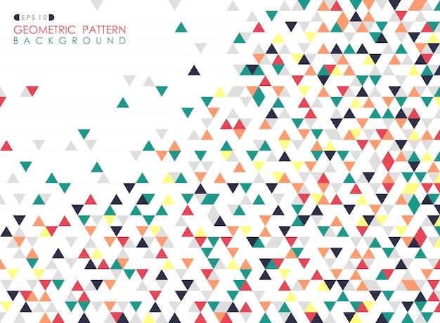 Résumé du motif géométrique triangle coloré