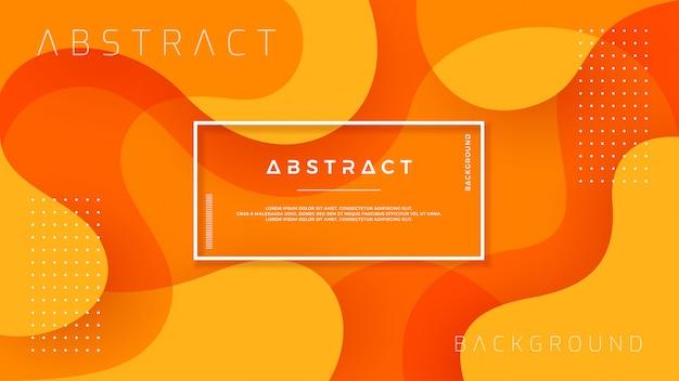 Résumé dynamique design fond texturé orange.