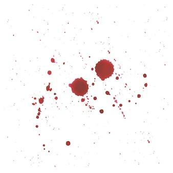 Résumé éclaboussure de sang sur fond blanc