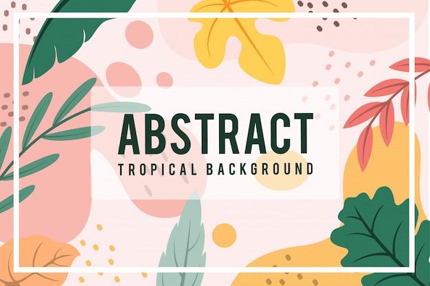 Résumé, feuille, tropical, automne, conception, chaud, vue