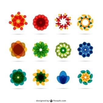 Résumé fleurs logos