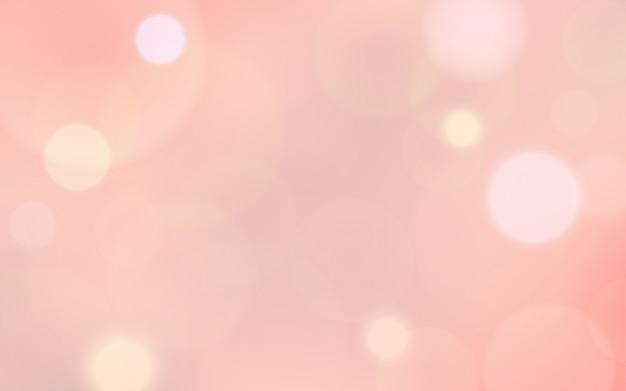 Résumé flou bokeh et lens flare sur la couleur rose de la saint-valentin
