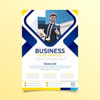 Résumé de flyer business avec image