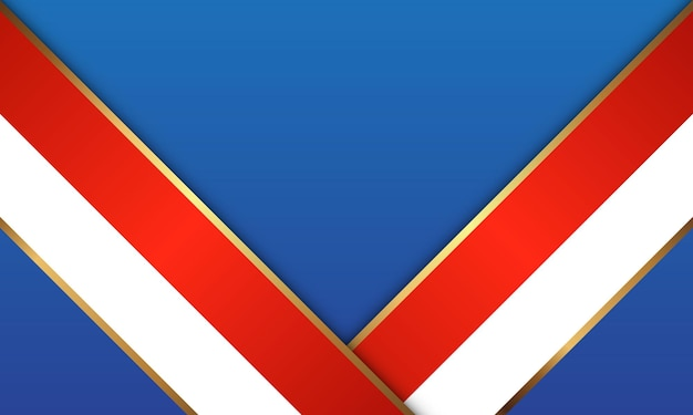 Résumé fond blanc bleu rouge et or lignes couleur design moderne