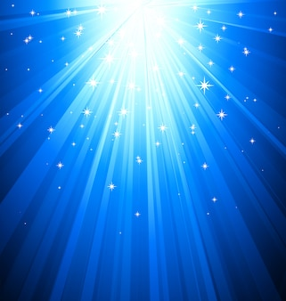 Résumé fond bleu clair magique