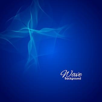 Résumé fond bleu ondulé