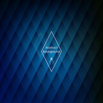 Résumé fond bleu rhombique.