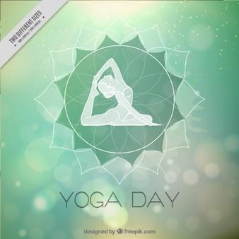 Résumé de fond bokeh du yoga