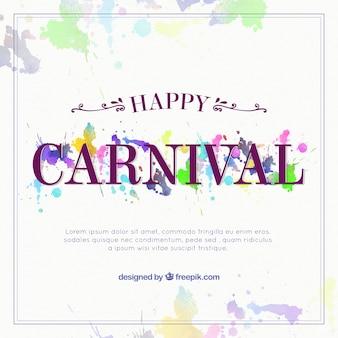 Résumé de fond de carnaval avec des taches d'aquarelle