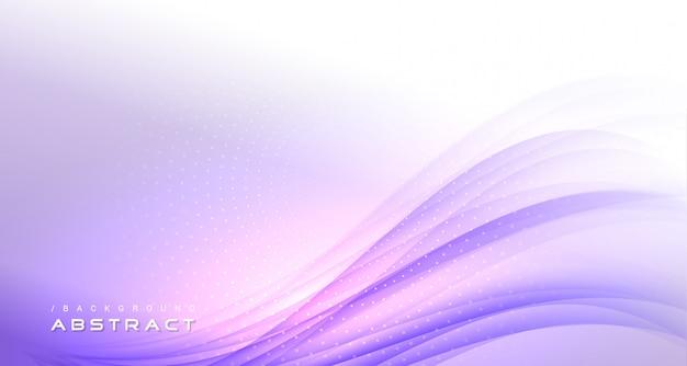 Résumé fond clair moderne ondulé violet