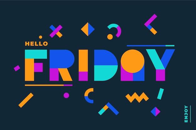 Résumé de fond de conception de mot vendredi