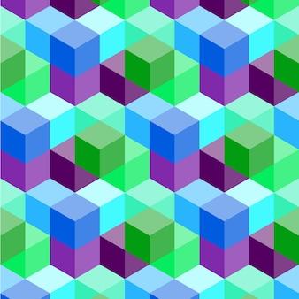 Résumé de fond avec des cubes colorés