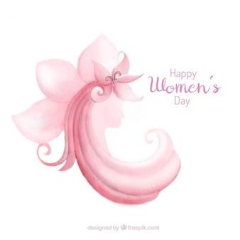 Résumé de fond dans les tons rose pour le jour des femmes