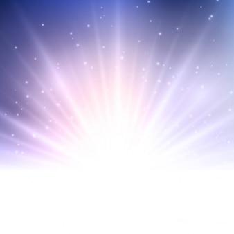 Résumé de fond avec un design starburst