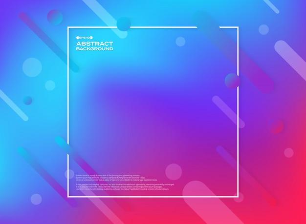 Résumé de fond de forme géométrique colorée