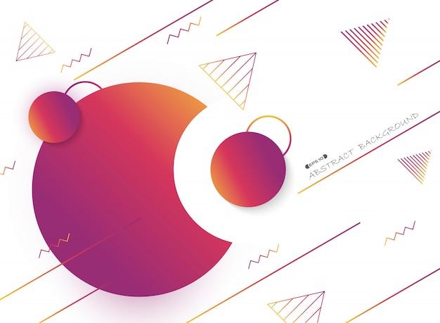 Résumé de fond géométrique de couleur fluide.