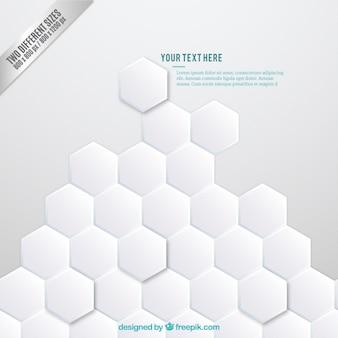Résumé de fond avec des hexagones