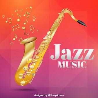 Résumé de fond de jazz saxophone