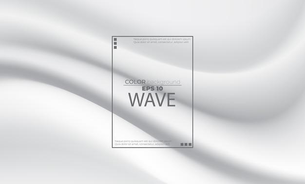 Résumé de fond liquide blanc avec fluide de vagues douces. composition de formes dégradées cool