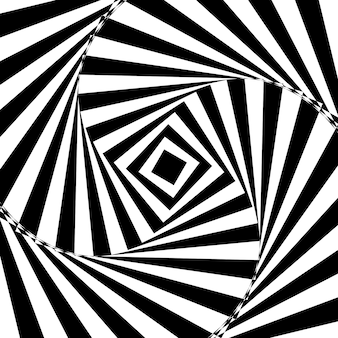 Résumé fond noir et blanc torsadé