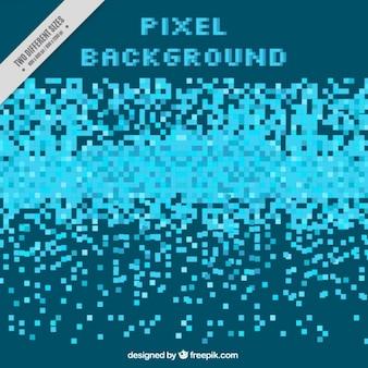 Résumé de fond de pixels bleus