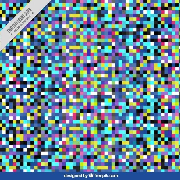 Résumé de fond de pixels colorés