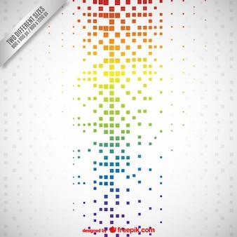 Résumé de fond avec des points de couleur