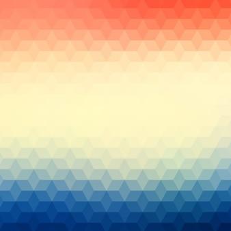Résumé de fond polygonale dans des tons bleus et rouges