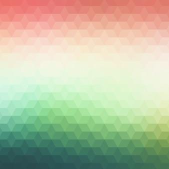 Résumé de fond polygonale dans des tons verts et rouges