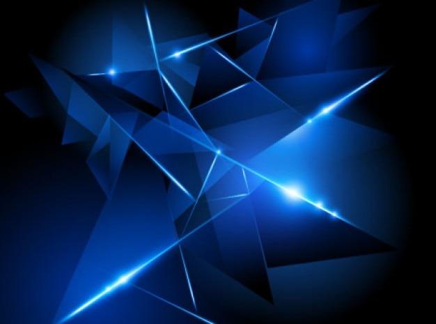 Résumé de fond réalisé avec des formes bleues.