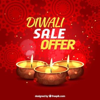 Résumé fond rouge des ventes de diwali