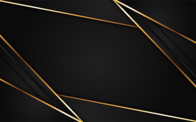 Résumé fond sombre futuriste combiné avec élément doré