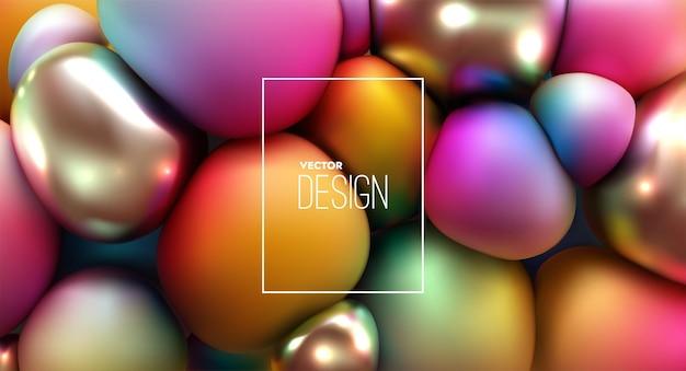 Résumé fond de sphères pressées multicolores